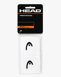 "Head 2.5"" Wristbands - White (2 pack)"