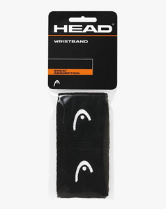 "Head 2.5"" Wristbands - Black (2 pack)"