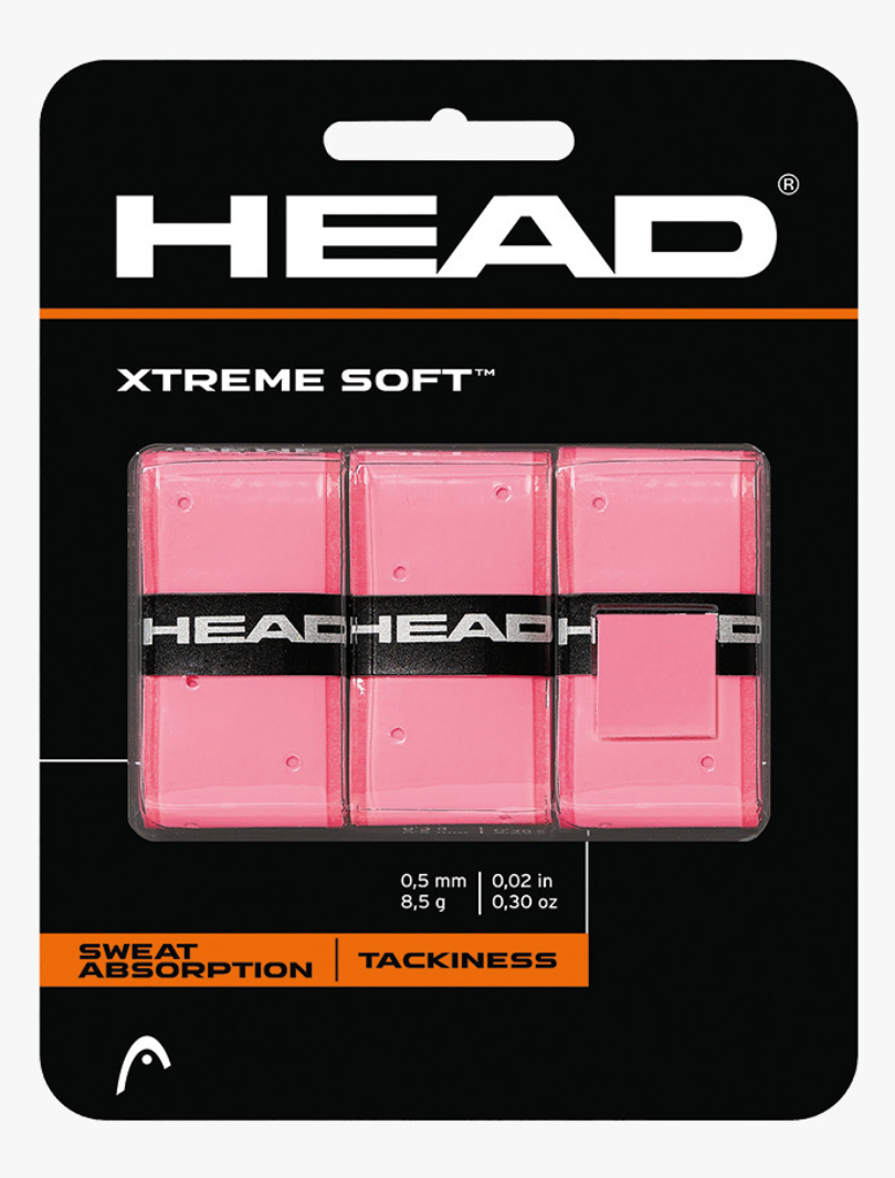 Head Xtreme Soft Overgrips - Pink (3 pack)