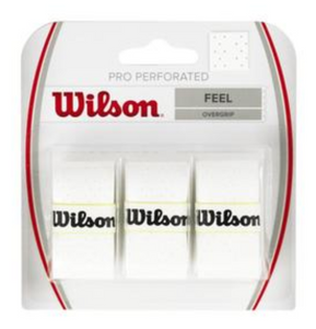 Wilson Pro Perforated Overgrips - White (3 pack)