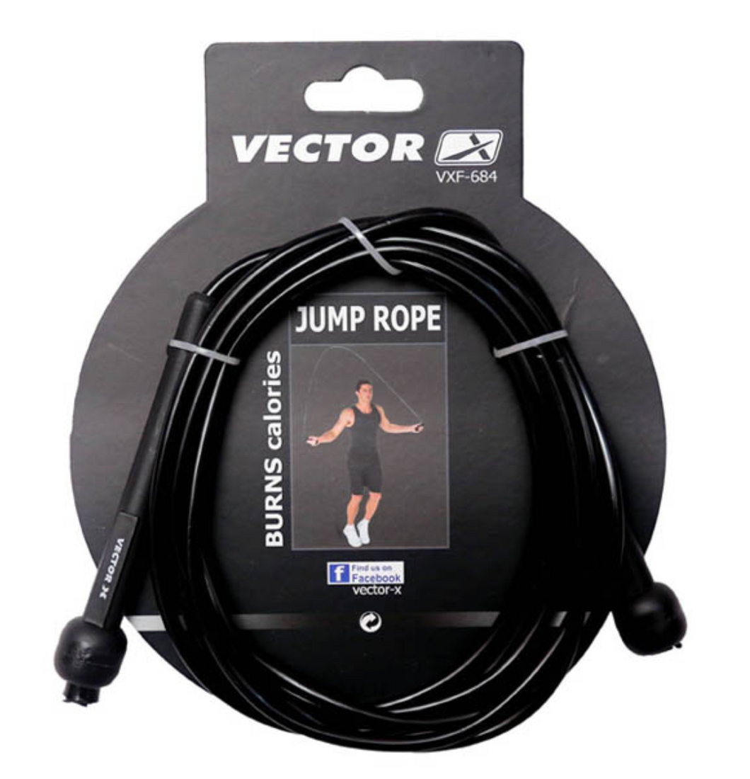 Vector X Speed Skipping Rope - 6ft (Black)