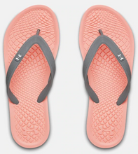 Load image into Gallery viewer, Under Armour Women's Atlantic Dune Flip Flops Sandals - Orange/Grey