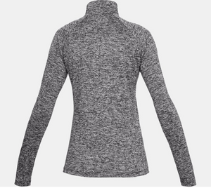 Under Armour Women's Tech Tech 1/2 Zip Long Sleeve - Twist - Black (001)