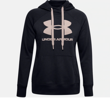 Load image into Gallery viewer, Under Armour Women's Rival Fleece Logo Hoody - Black (003)