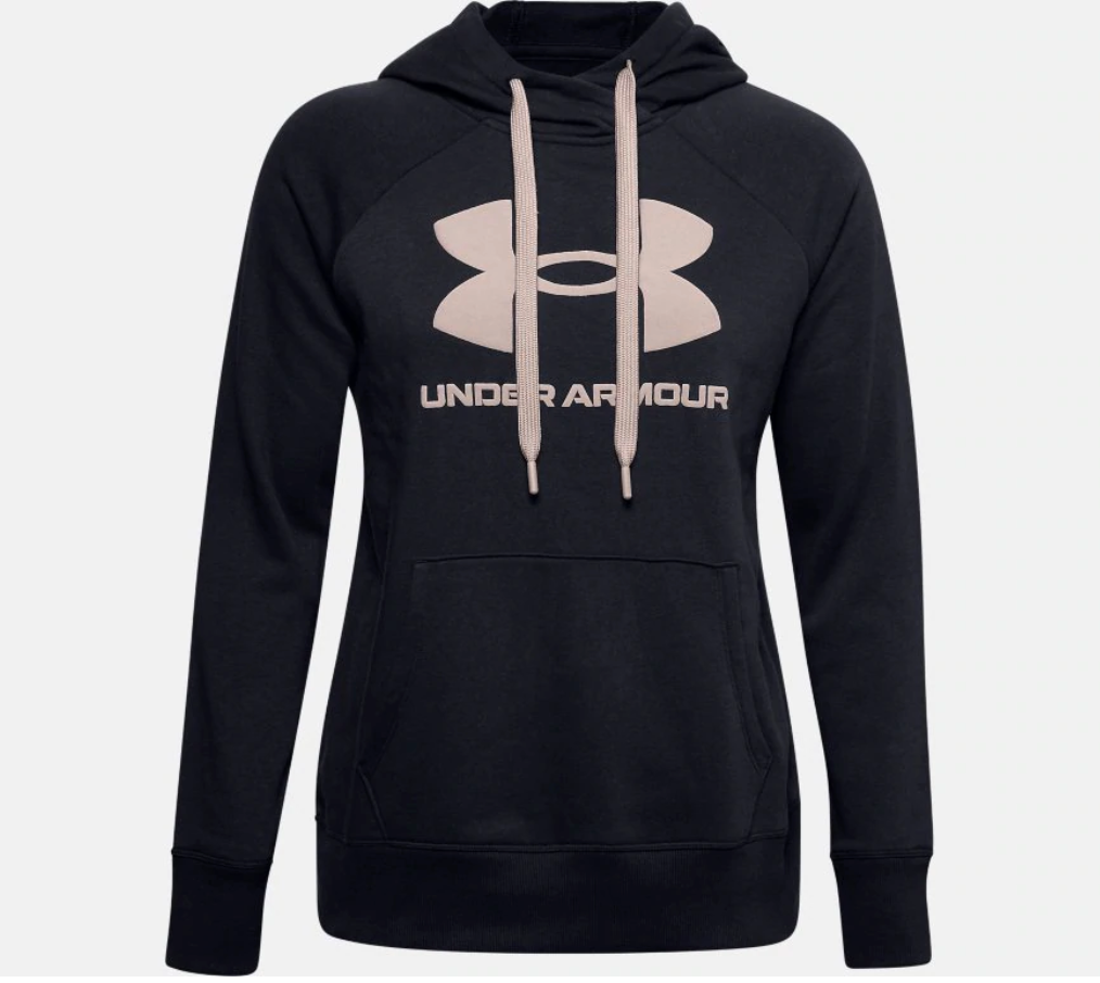 Under Armour Women's Rival Fleece Logo Hoody - Black (003)
