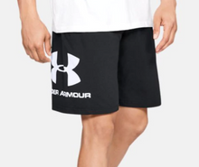 Load image into Gallery viewer, Under Armour Men's Sportstyle Cotton Shorts - Black/White