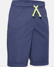 Load image into Gallery viewer, Under Armour Boys Prototype Wordmark Shorts - Blue (497)