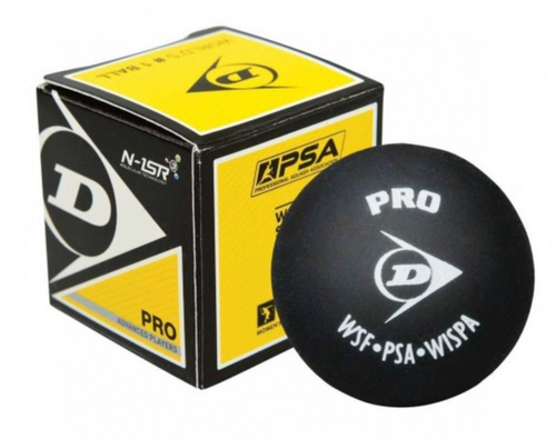 Dunlop Pro Double Yellow Dot Squash Ball - single
