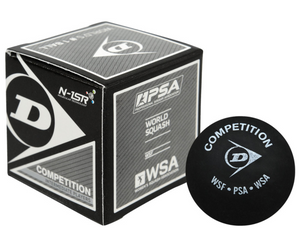 Dunlop Competition Single Yellow Dot Squash Ball - single