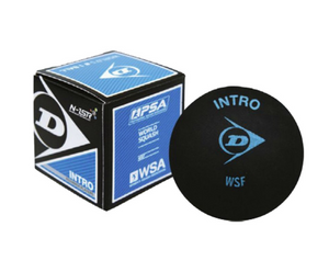 Dunlop Intro Blue Dot Squash Ball - single