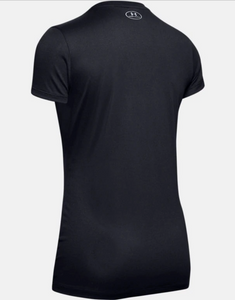 Under Armour Women's Tech™ V-Neck T-Shirt - Black (001)