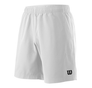 "Wilson Men's Team 8"" Tennis Shorts - White"
