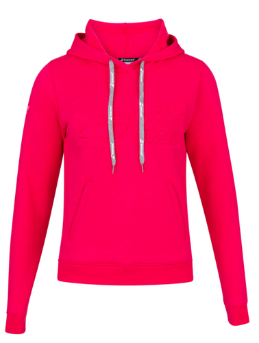 Babolat Girls Exercise Hood Sweat - Red Rose