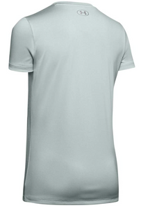 Under Armour Women's Tech Short Sleeve V-Neck T-Shirt - Mint (189)
