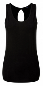 TriDri Women's Tie Back Vest Tank - Black