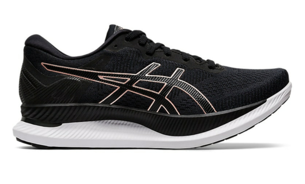 Asics Women's GlideRide Running Shoes - Black/Rose Gold