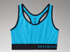 Under Armour Women's Armour Mid Sports Bra - Equator Blue (417)