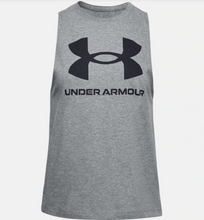 Load image into Gallery viewer, Under Armour Women's Live Sportstyle Graphic Tank - Grey (012)