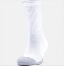Load image into Gallery viewer, Under Armour Adult HeatGear Crew Socks 3-Pack - White/Grey