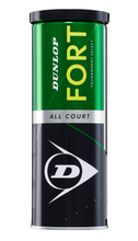 Load image into Gallery viewer, Dunlop Fort All Court Tennis Balls - 3 ball can