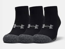 Load image into Gallery viewer, Under Armour Adult HeatGear Lo Cut Socks 3-Pack - Black