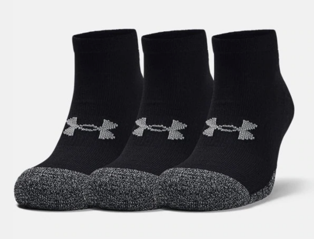 Under Armour Adult HeatGear Lo Cut Socks 3-Pack - Black
