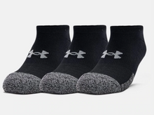 Load image into Gallery viewer, Under Armour Adult HeatGear No Show Socks 3-Pack - Black/Grey