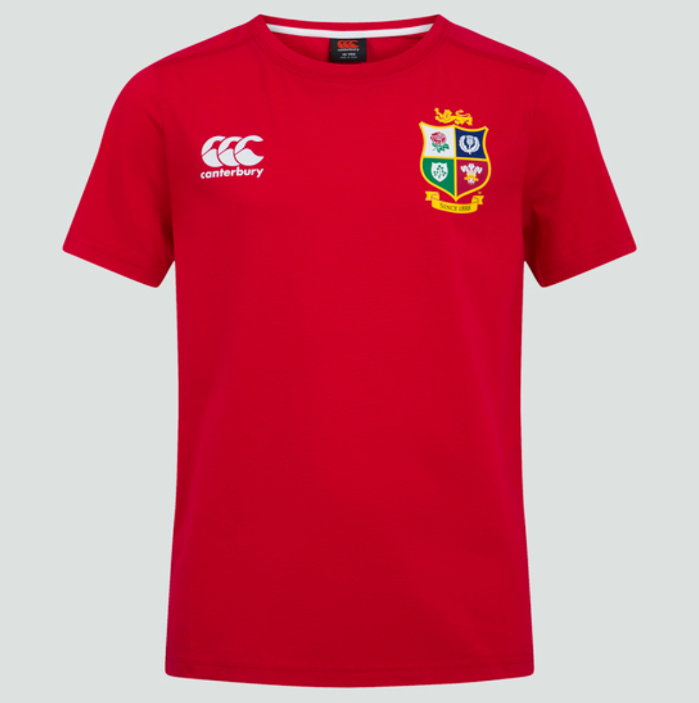Canterbury British & Irish Lions Junior Cotton Tee - Tango Red