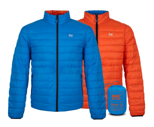 Mac in a Sac Polar II Mens Reversible Down Jacket - ROYAL / FLAME