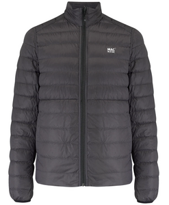 Mac in a Sac Polar II Mens Reversible Down Jacket - JET BLACK / CHARCOAL