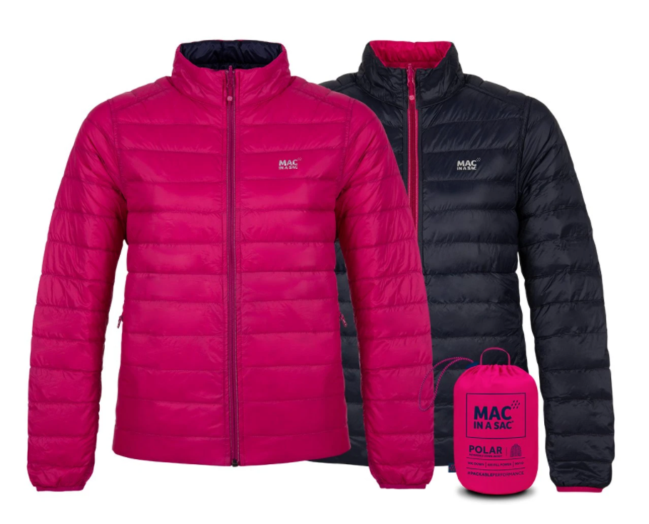 Mac in a Sac Womens Polar II Reversible Down Jacket - FUCHSIA / NAVY