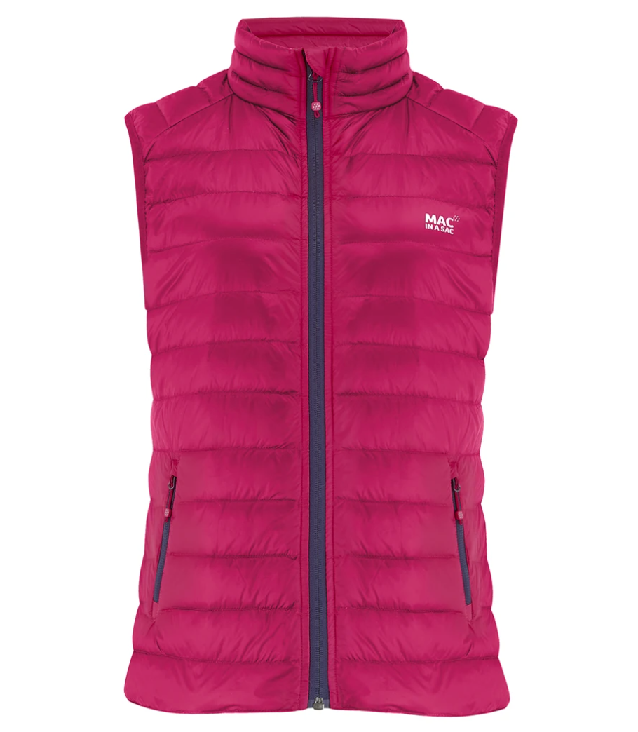 Mac in a Sac Womens Alpine Down Gilet - FUCHSIA