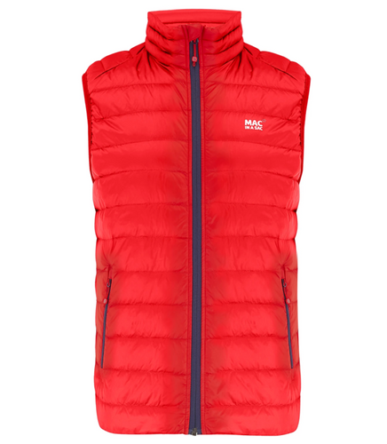 Mac in a Sac Mens Alpine Down Gilet - RED
