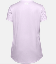 Load image into Gallery viewer, Under Armour Girl's Tech Big Logo Short Sleeve T-Shirt - Crystal Lilac (570)