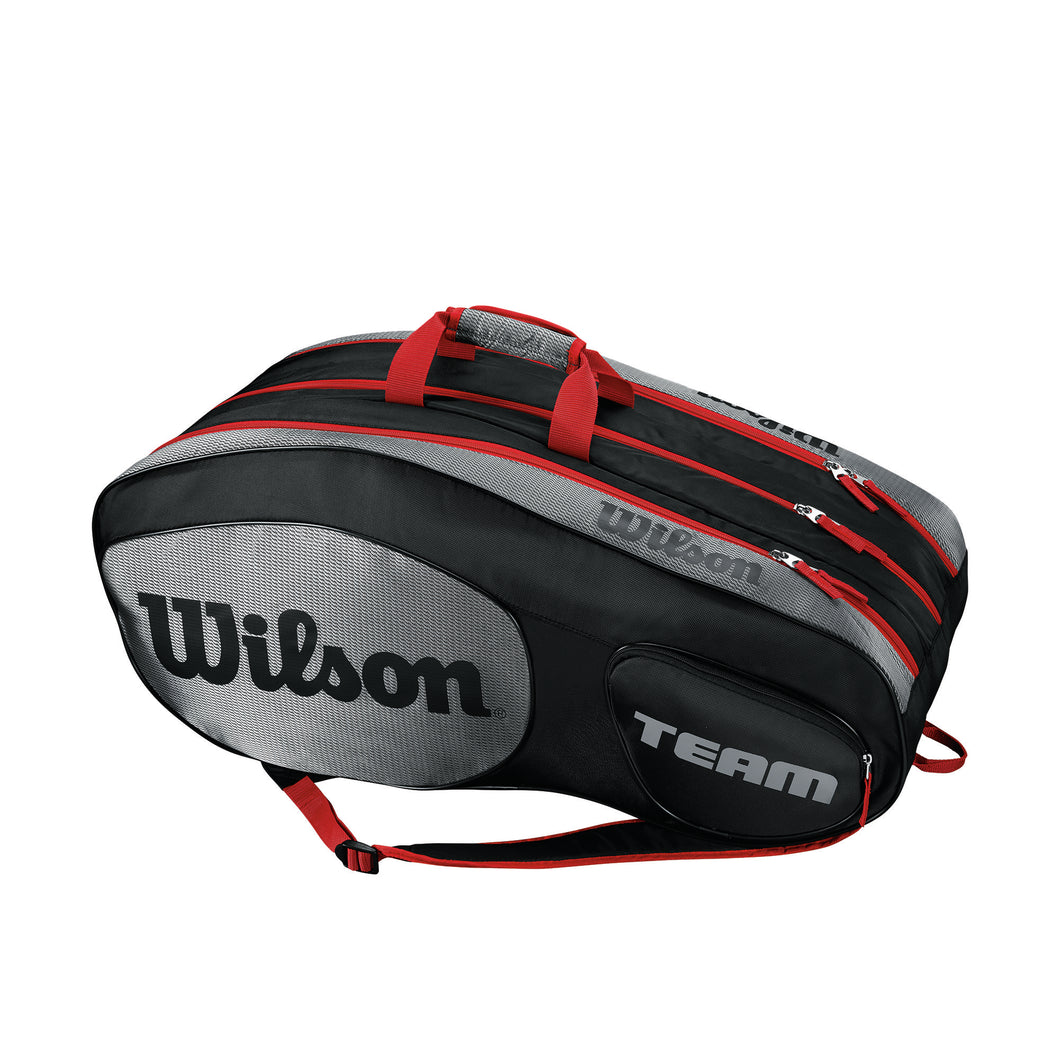 Wilson Team III 12 Racket Bag  - Black/Grey