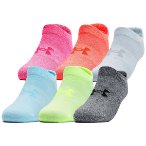 Under Armour Women's Essential No Show Socks - Multi (6 pack)