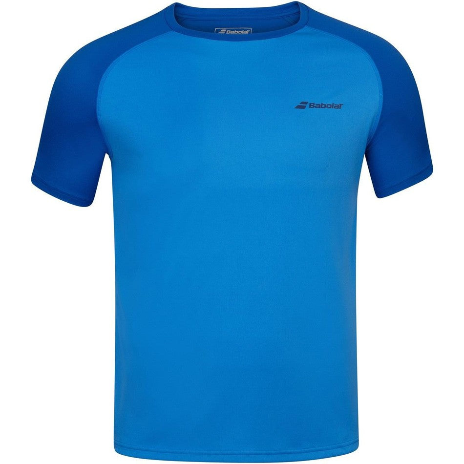 Babolat Men's Play Crew Next T-Shirt - Blue Aster