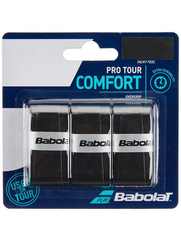 Babolat Pro Tour Comfort Overgrips - Black (3 pack)