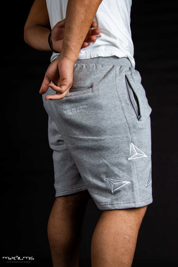 Athletic Fleece Shorts - Heather Gray