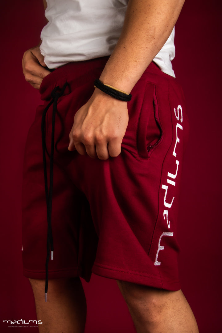 Athletic Fleece Shorts - Cardinal Red