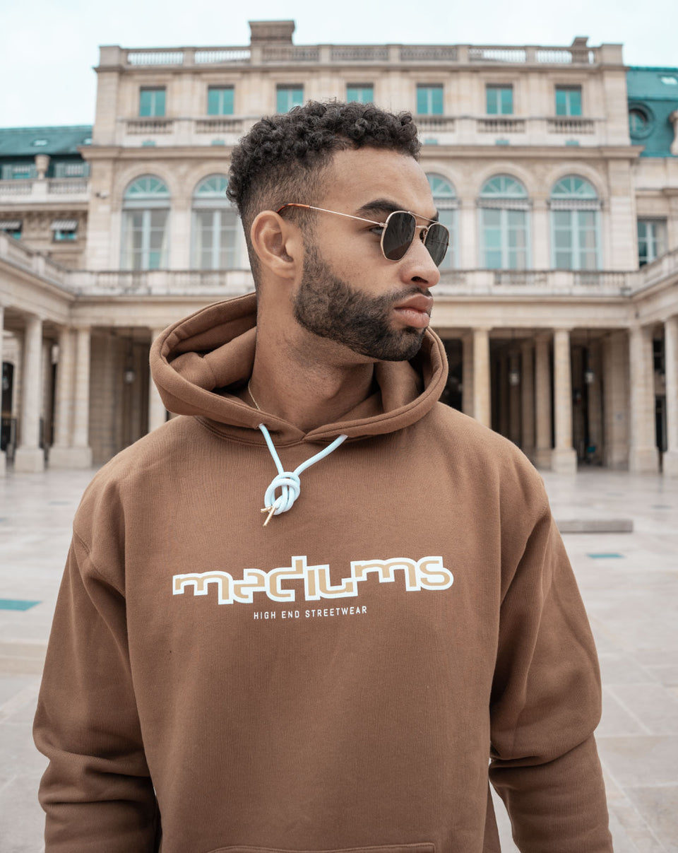 High End Logo Hoodie - Brown