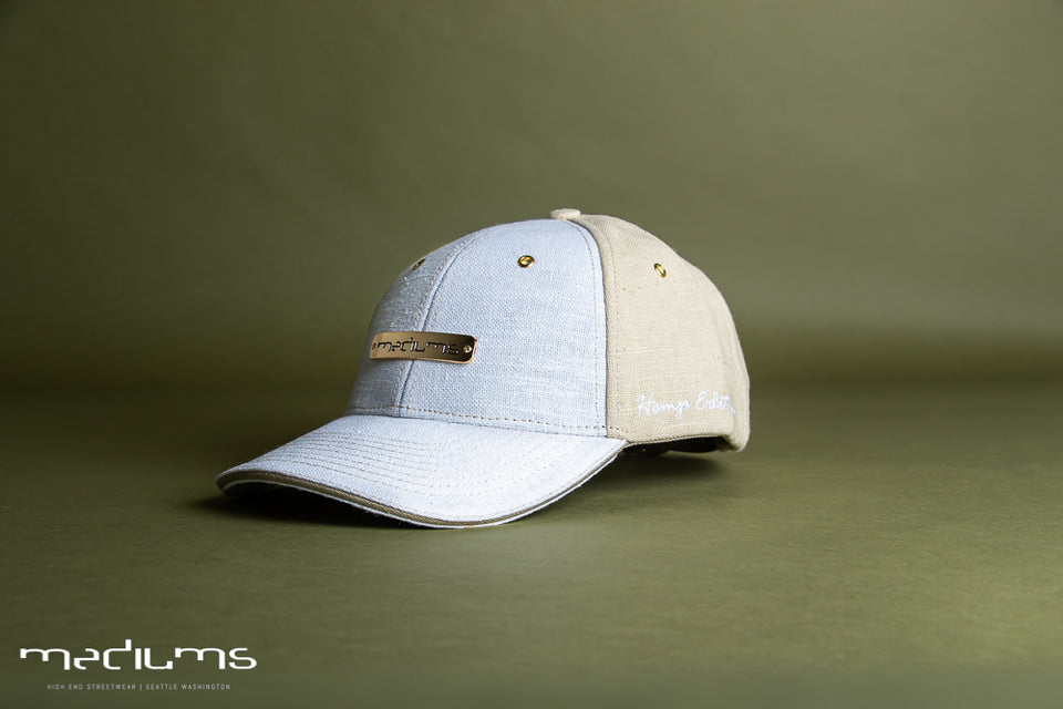 Baseball hemp hat - Beige White