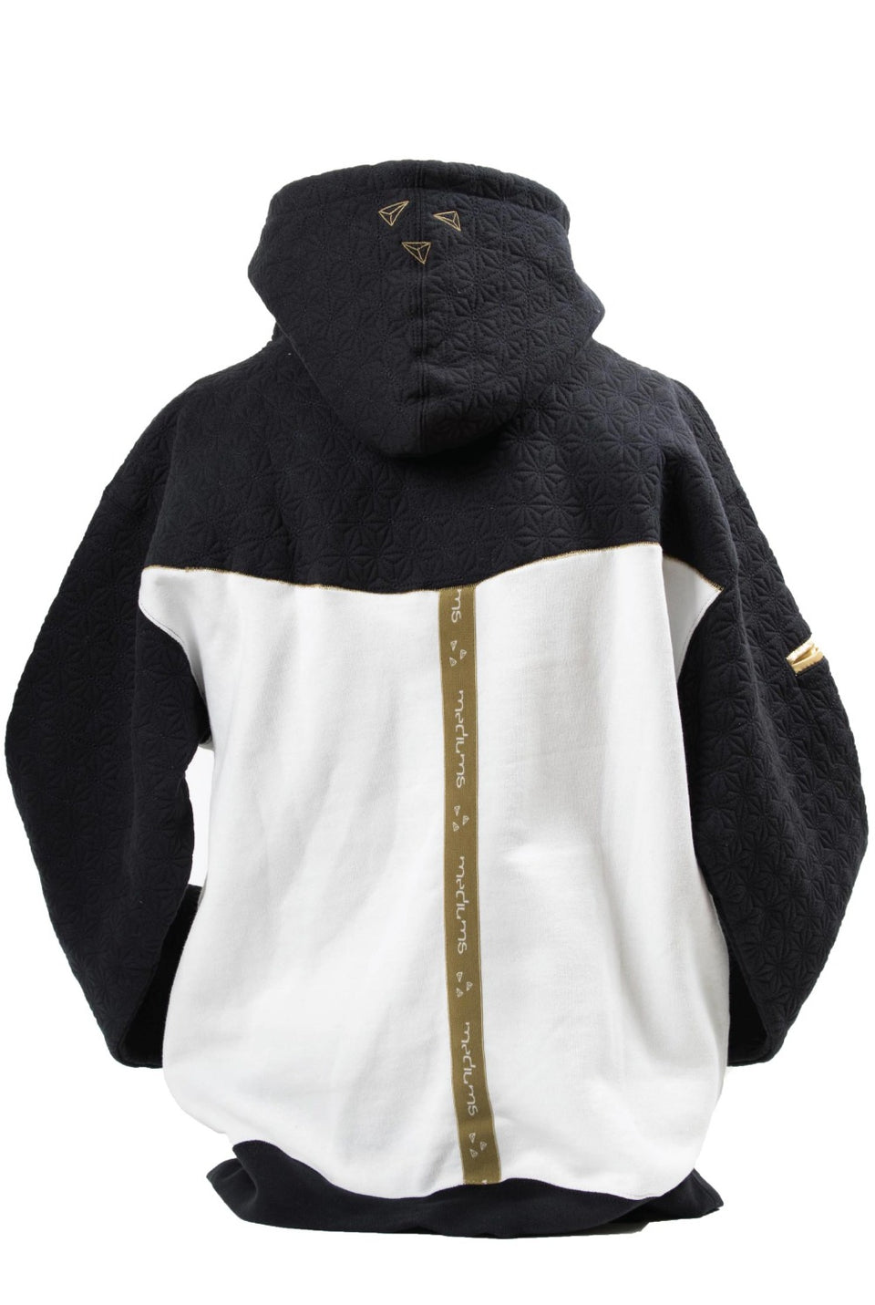 Quilted Hoodie Navy & Cream