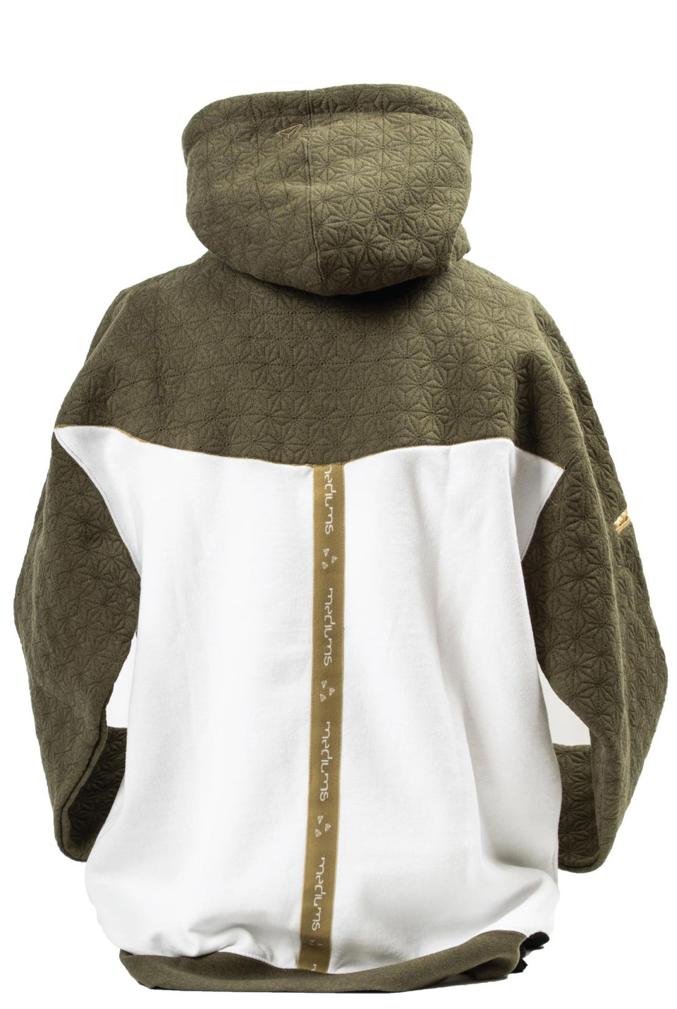 Quilted Hoodie Olive & Cream