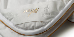 Luxury trim and binding on alpaca gold quilts