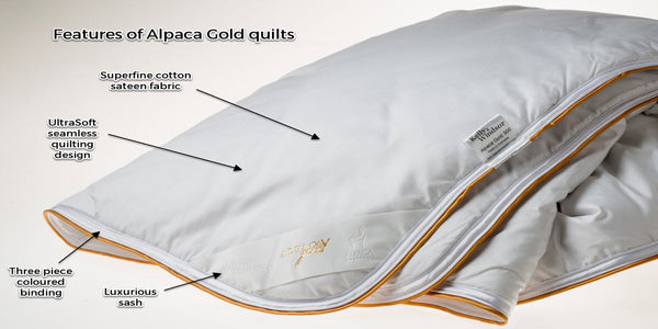 Features of alpaac gold quilts
