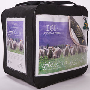 Dorset & Downs Wool 300 Quilt - Gold Edition | Kelly and Windsor Australian Alpaca Quilts