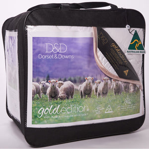 Dorset & Downs Wool 500 Quilt - Gold Edition | Kelly and Windsor Australian Alpaca Quilts