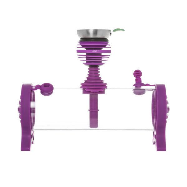 AOT Tabltop Plexiglass Hookah Purple - - Shishamore.com