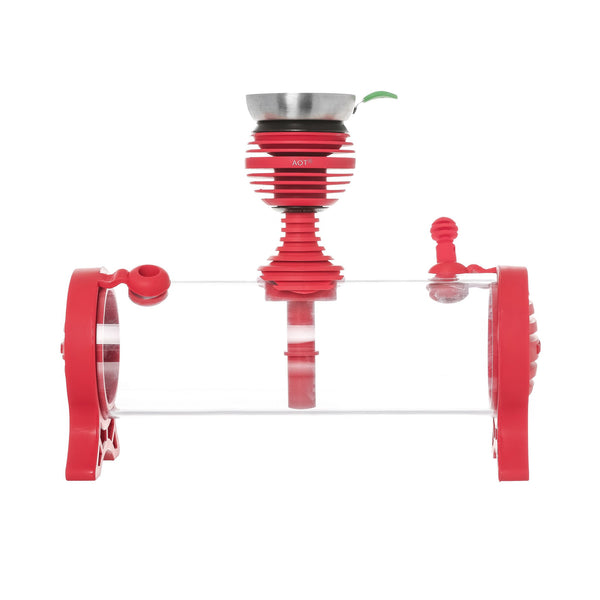 AOT Tabltop Plexiglass Hookah Red - - Shishamore.com